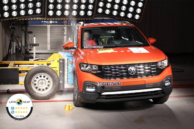 Volkswagen T-Cross tem 5 estrelas ems egurança